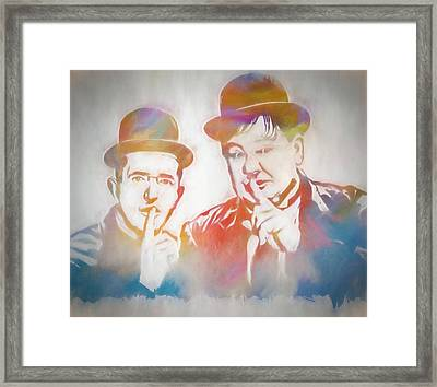 Laurel And Hardy Framed Print by Dan Sproul