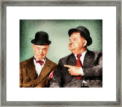 Laurel And Hardy Hollywood Legends Framed Print by John Springfield