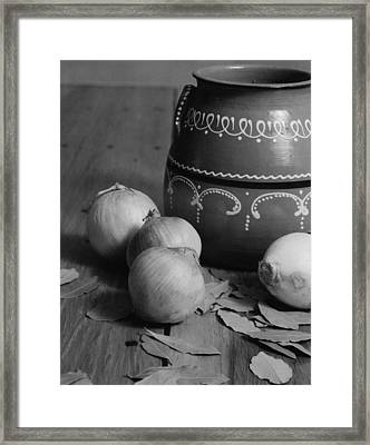Laurel And Onions Framed Print