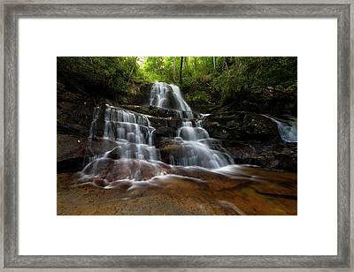 Laurel Falls Great Smoky Mountains Tennessee Framed Print