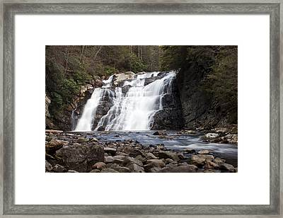 Framed Print featuring the photograph Laurel Falls In Spring #1 by Jeff Severson