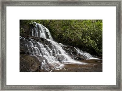 Framed Print featuring the photograph Laurel Falls by Ken Barrett