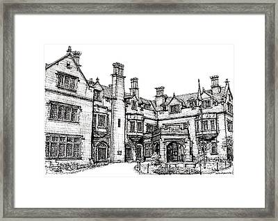 Laurel Hall In Indianapolis Framed Print by Adendorff Design