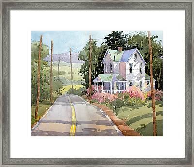 Laurel Mountain Farm Framed Print by Joyce Hicks