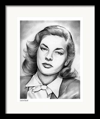 Lauren Bacall Framed Prints