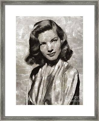 Lauren Bacall, Hollywood Legend By Mary Bassett Framed Print