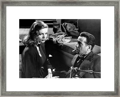 Lauren Bacall Humphrey Bogart Film Noir Classic The Big Sleep 1 1945-2015 Framed Print