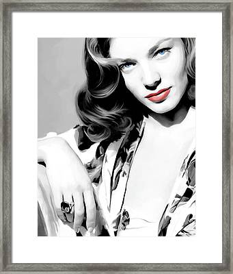 Lauren Bacall Large Size Portrait 2 Framed Print