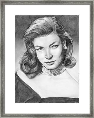 Lauren Bacall Framed Print by Rob De Vries