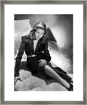 Lauren Bacall Framed Print by Unknown