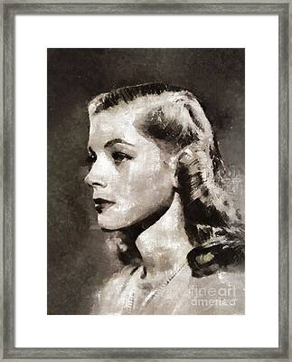 Lauren Bacall, Vintage Actress Framed Print by Mary Bassett