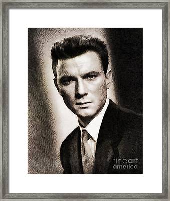 Laurence Harvey, Vintage Actor By John Springfield Framed Print by John Springfield