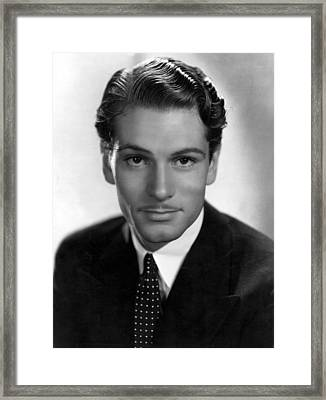 Laurence Olivier, Portrait With Polka Framed Print by Everett