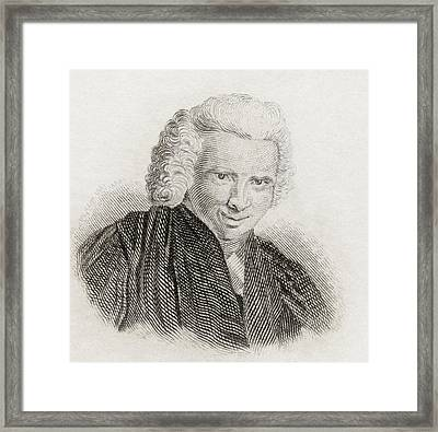 Laurence Sterne, 1713 To 1768. English Framed Print by Vintage Design Pics