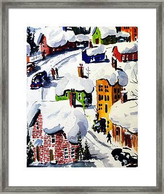 Laurentian Snows Framed Print