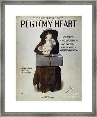 Laurette Taylor (1884-1946) Framed Print