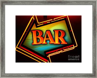 Laurettes Bar Framed Print by Barbara Teller