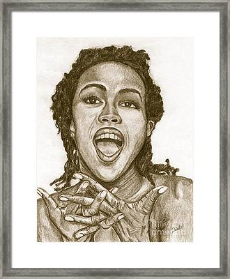 Lauryn Hill Framed Print by Debbie DeWitt