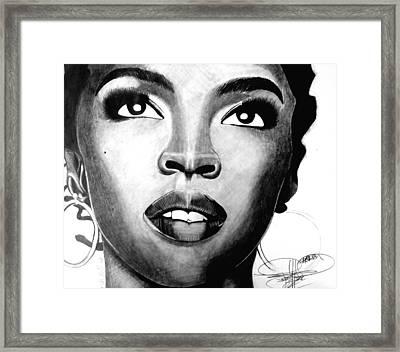 Lauryn Hill Drawing Framed Print by Keeyonardo
