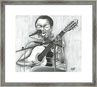 Lauryn Hill Framed Print by James  Mingo