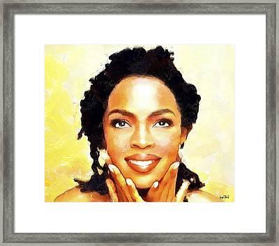 Lauryn Hill Framed Print by Wayne Pascall