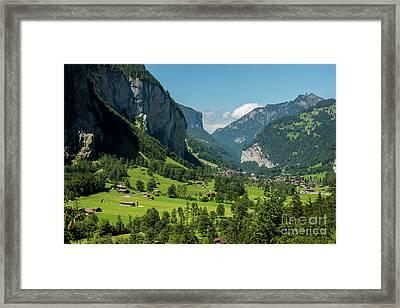 Lauterbrunnen Mountain Valley - Swiss Alps - Switzerland Framed Print by Gary Whitton