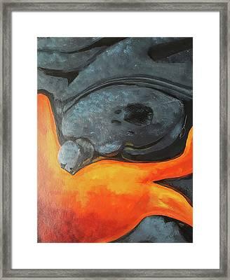 Lava 1 Framed Print