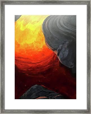 Lava 2 Framed Print