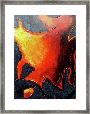 Lava 3 Framed Print