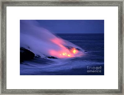 Lava And Pink Smoke Framed Print