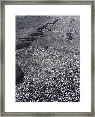 Lava And Shell Framed Print by Chad Natti