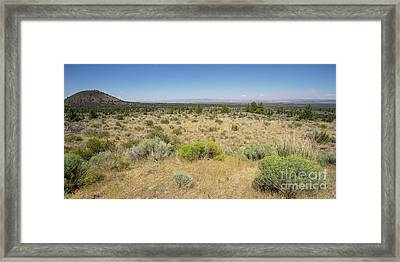Lava Beds National Monument California Dsc5317 Panorama Framed Print