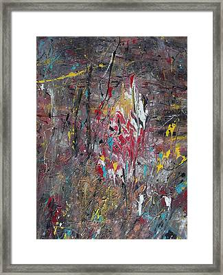 Lava Eruption Framed Print by Rivka Waas