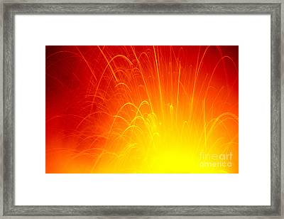 Lava Explodes Into Ocean Framed Print by Peter French - Printscapes