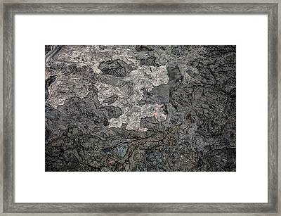 Framed Print featuring the photograph Lava Flow by M G Whittingham