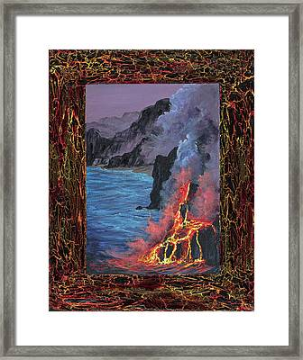 Framed Print featuring the painting Lava Flow by Darice Machel McGuire