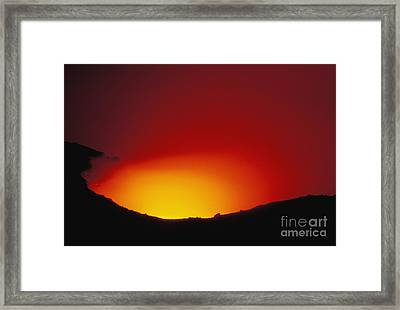 Lava Flows At Night Framed Print by William Waterfall - Printscapes