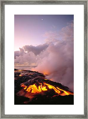 Lava Flows At Sunrise Framed Print by Peter French - Printscapes