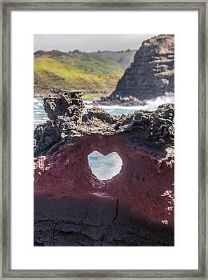 Lava Heart Framed Print