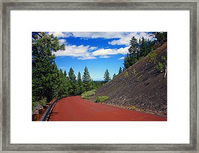 Lava Road Framed Print by Kami McKeon