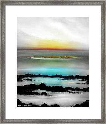 Lava Rock Sunset Framed Print by Gina De Gorna