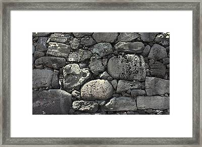 Lava Rock Wall 1 Dark Framed Print