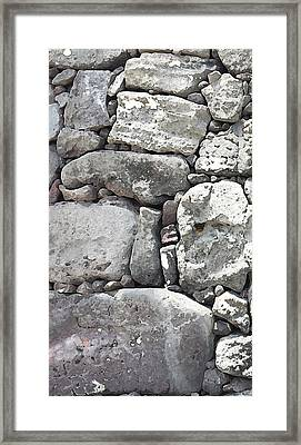 Lava Rock Wall 1 Triptych L Framed Print