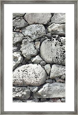 Lava Rock Wall 1 Triptych C Framed Print
