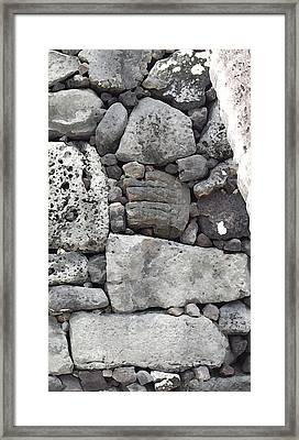 Lava Rock Wall 1 Triptych R Framed Print