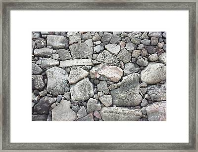 Lava Rock Wall 3 Framed Print