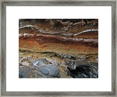 Lava Rocks Framed Print by Maria Woithofer