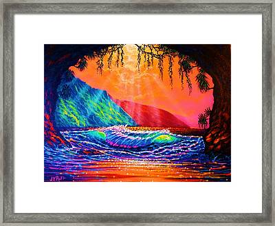Lava Tube Fantasy In Gold Framed Print