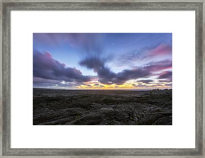 Framed Print featuring the photograph Lava Twilight by Ryan Manuel