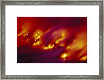 Lava Up Close Framed Print by Ron Dahlquist - Printscapes